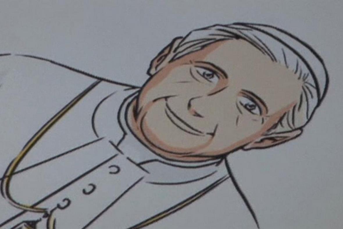 Komiks s papežem Benediktem XVI.