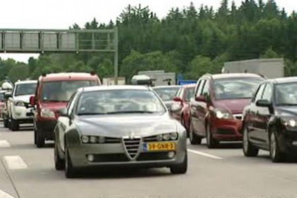 Zácpa na rakouské dálnici