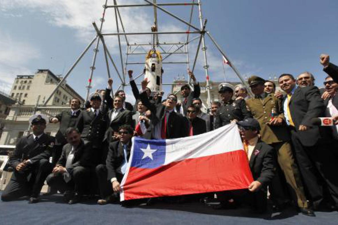 Zachránění chilští horníci