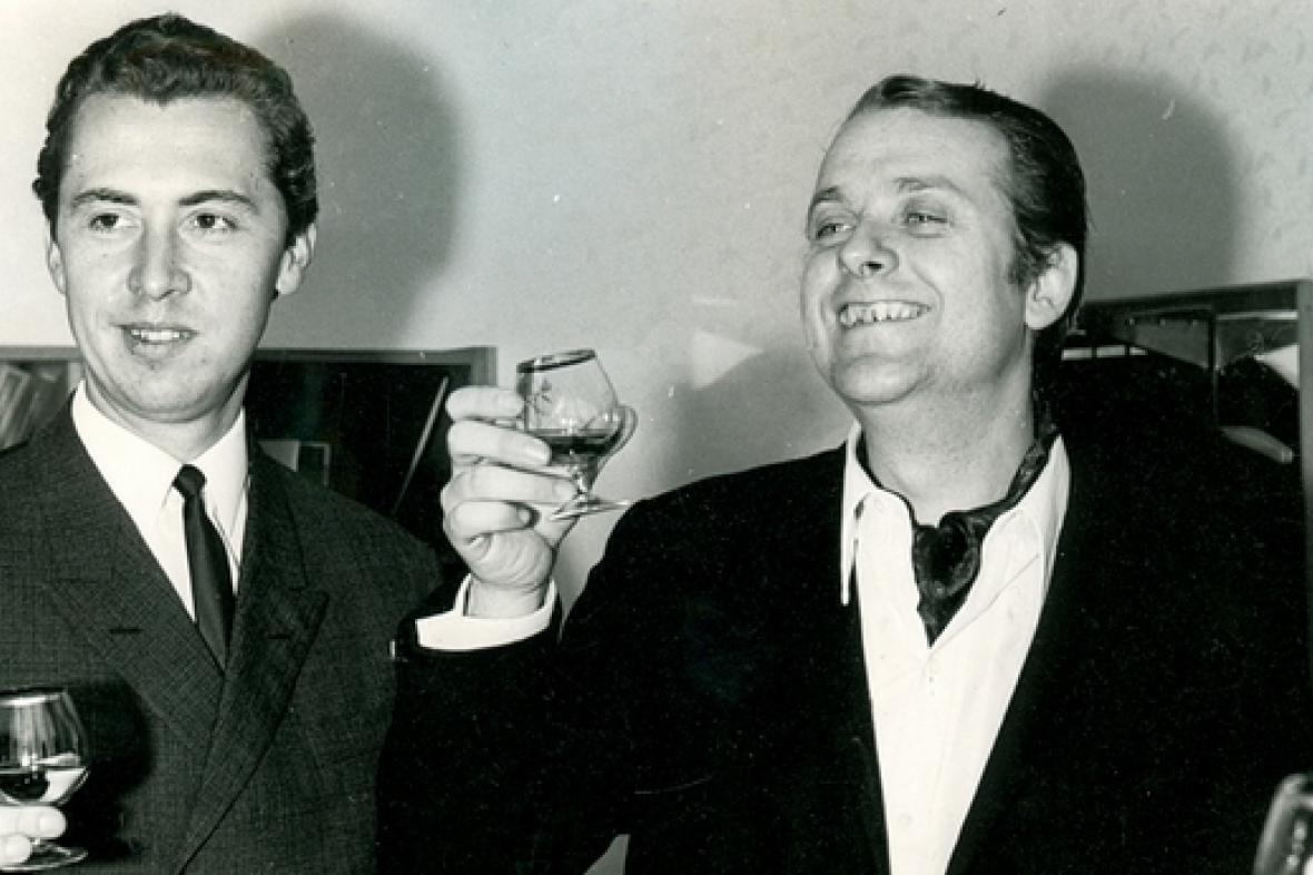 Režisér Jan Němec (vpravo)
