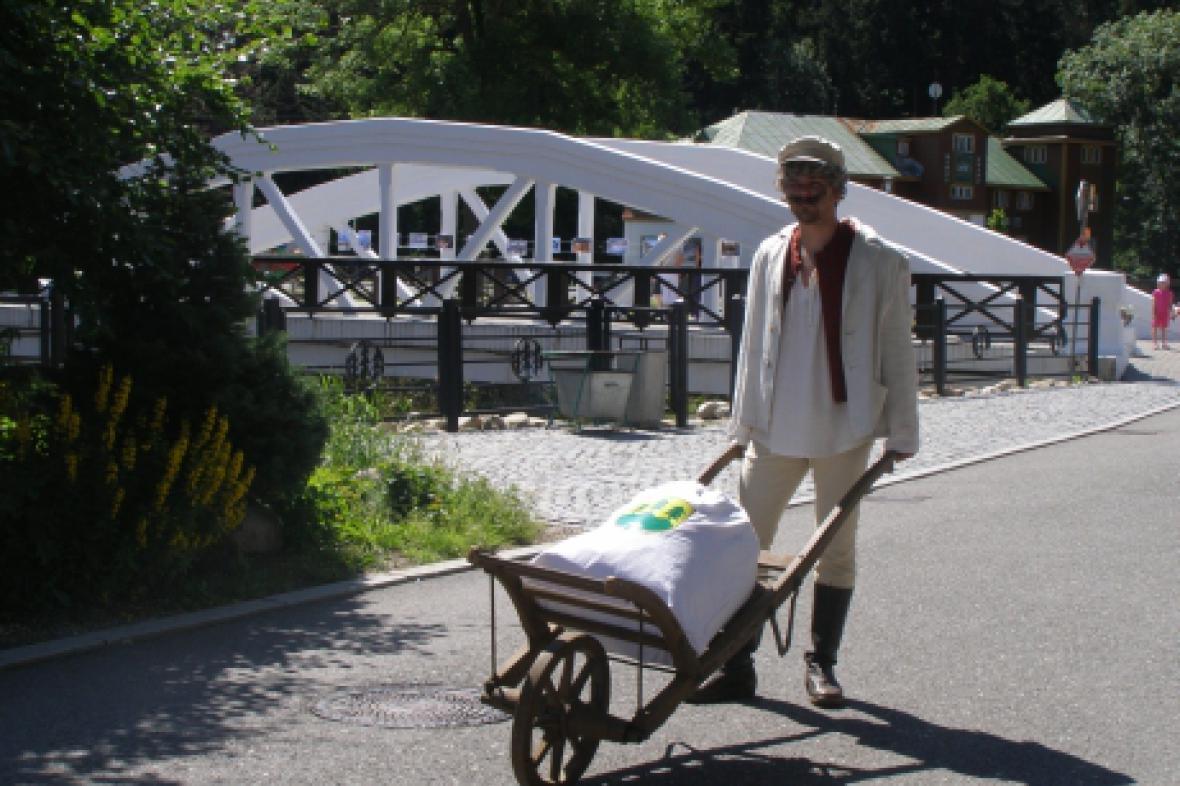 Z oslavy ve Špindlerově Mlýně - Špindlerovský mlynář