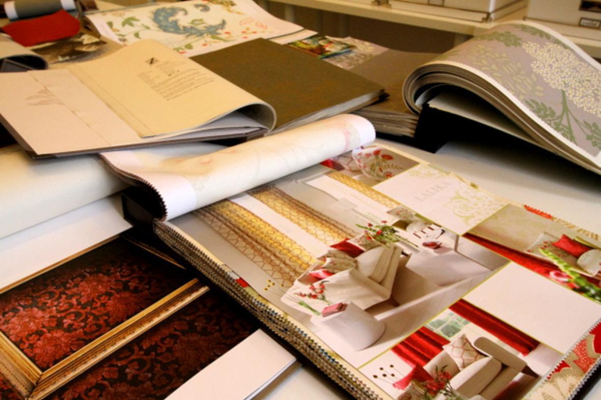 Vzorníky textilií