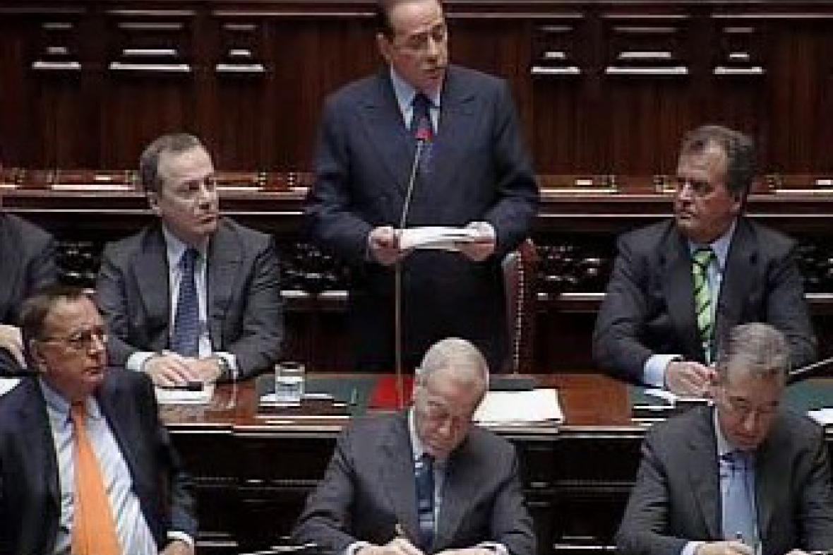 Silvio Berlusconi v parlamentu