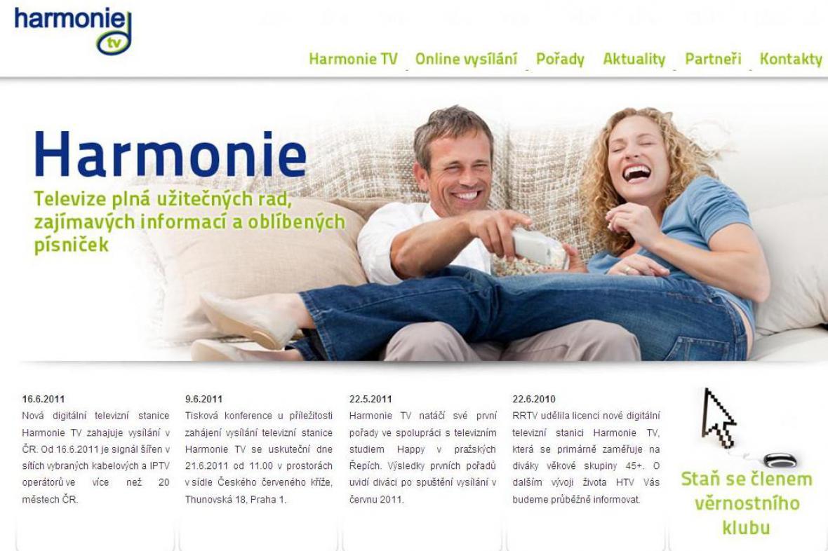 Internetové stránky Harmonie TV