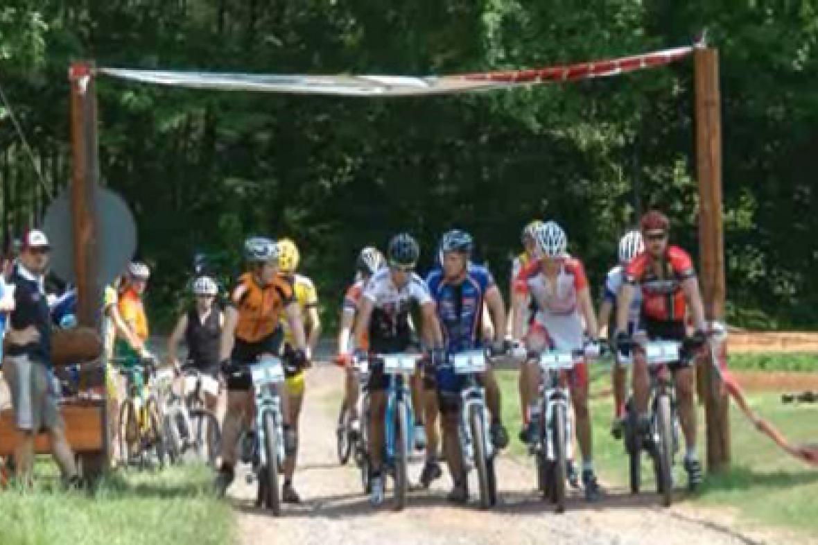 Cyklistický závod v Janovičkách u Broumova
