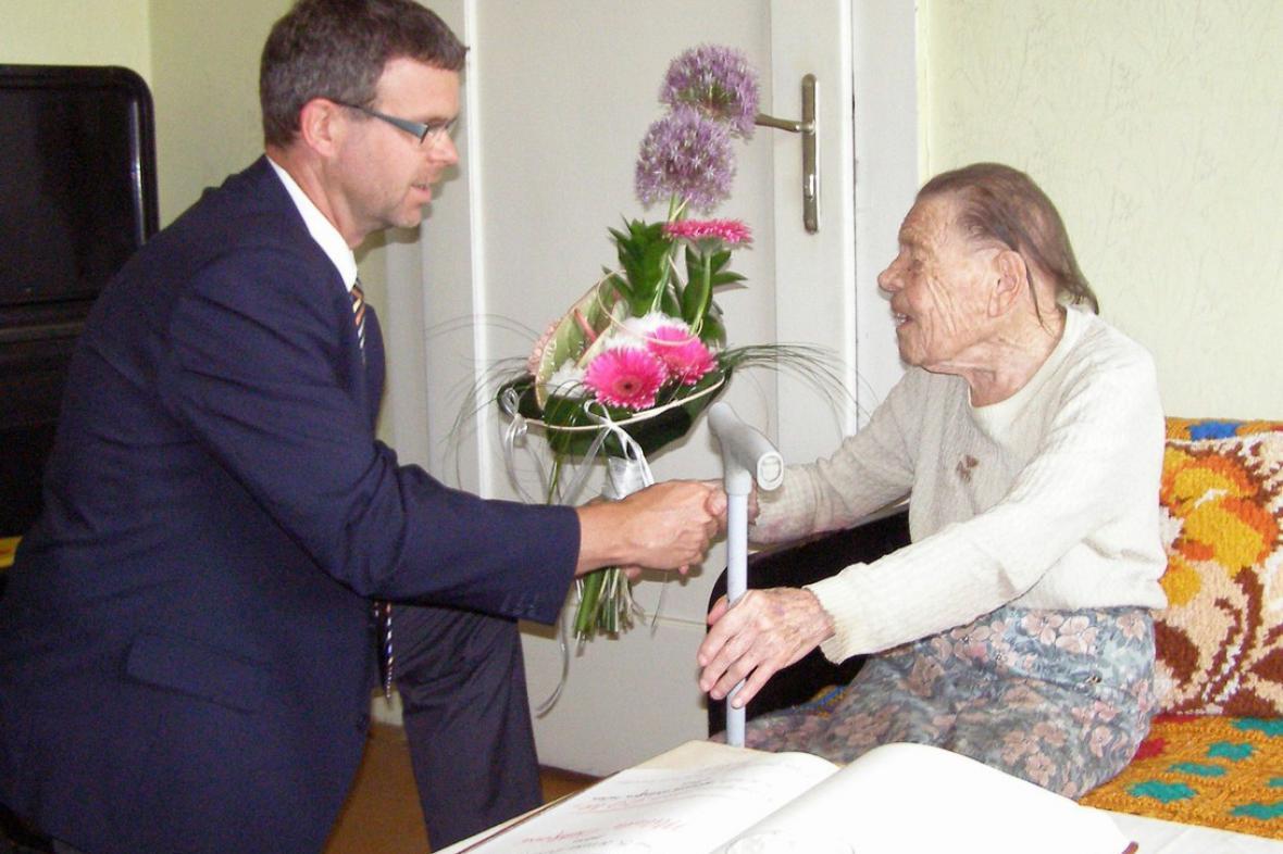Milada Lůžková - nejstarší obyvatelka Loun