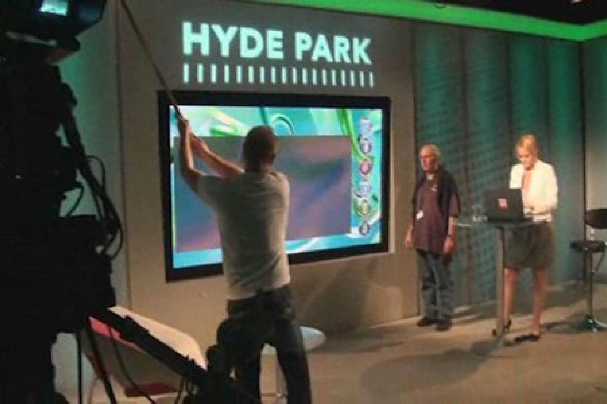 Natáčení pořadu Hyde Park