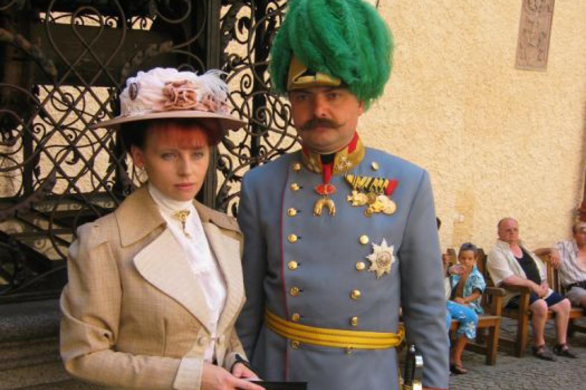 František Ferdinand d\'Este a Žofie Chotková na zámku Knopiště