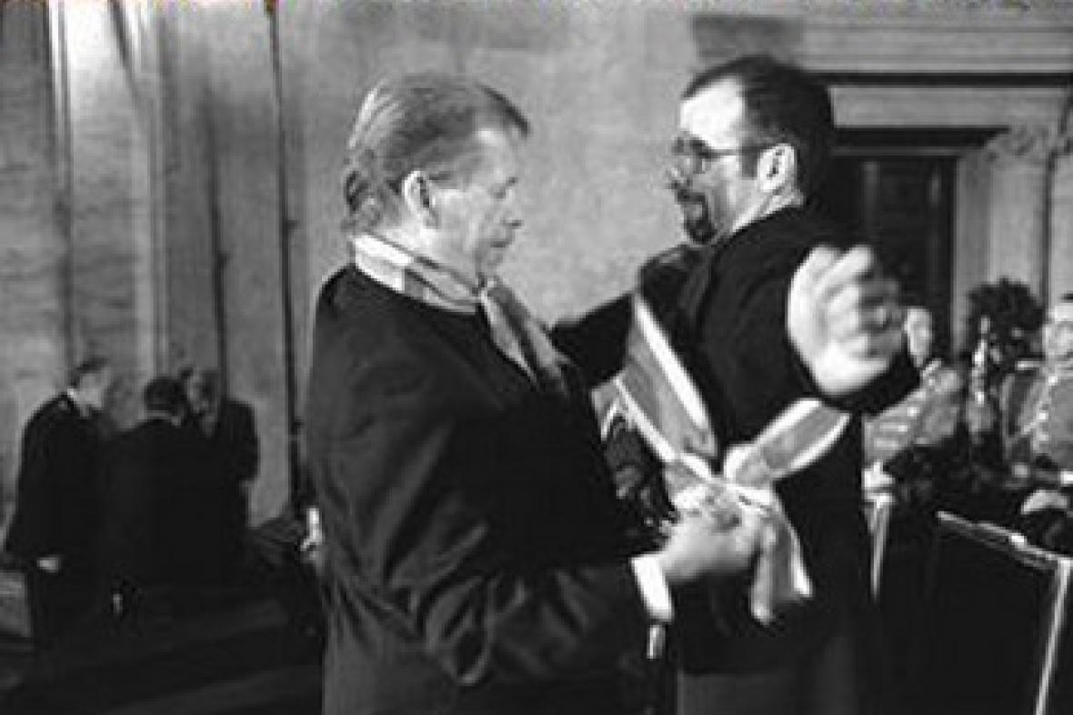 Václav Havel a Pavel Koutecký