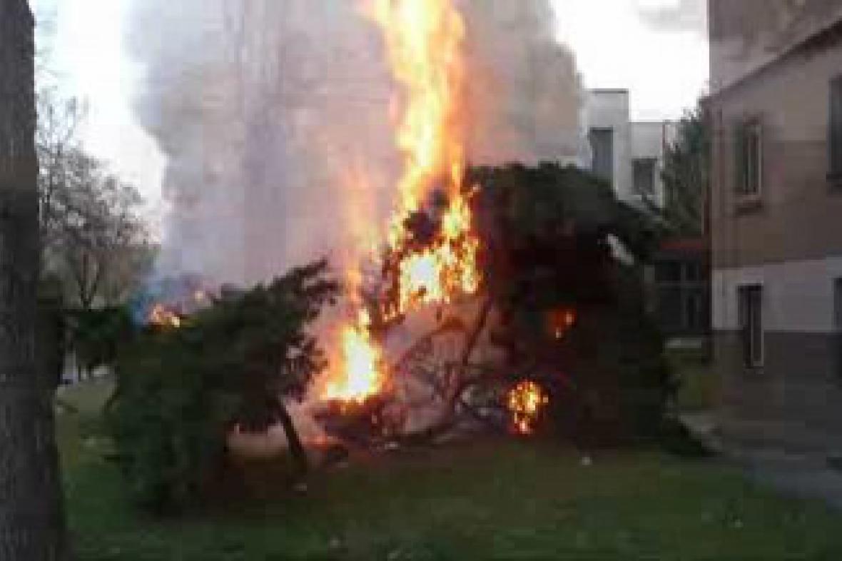 Požár v Přelouči