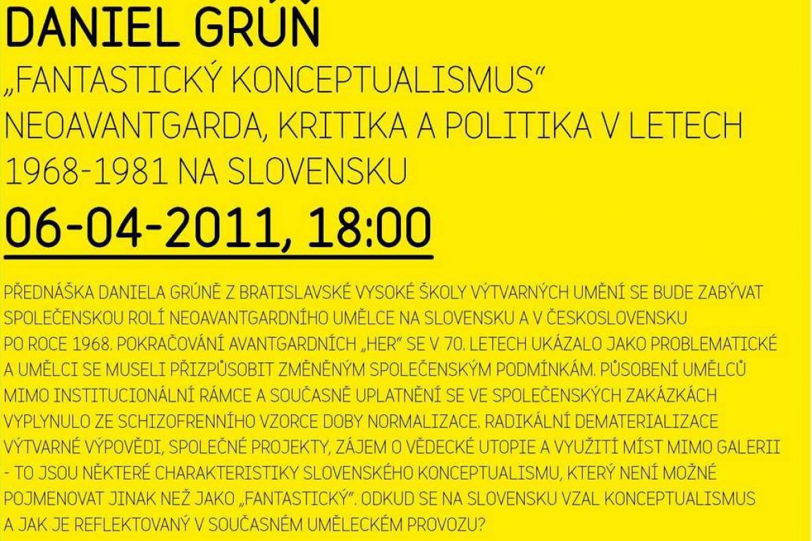 Přednáška Daniela Grúně