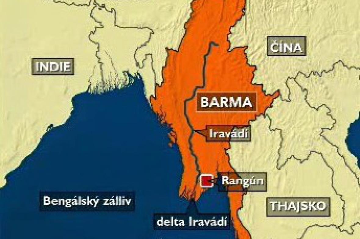 Mapa Barmy