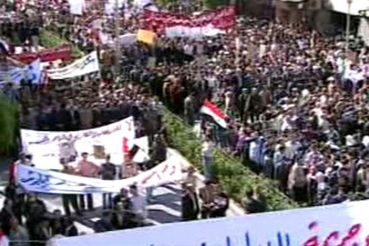 Demonstrace v Sýrii