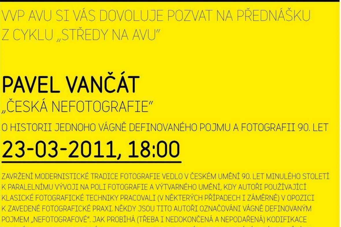 Středy na AVU / Pavel Vančát