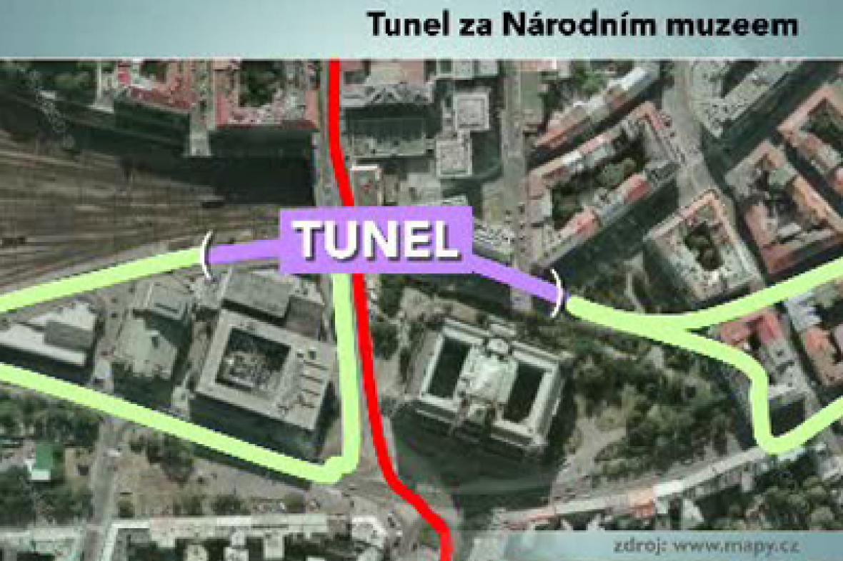 Tunel na pražské magistrále