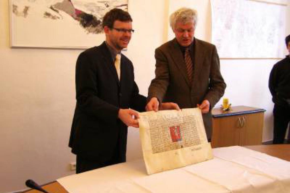 Prezentace archivního dokumentu v Lounech