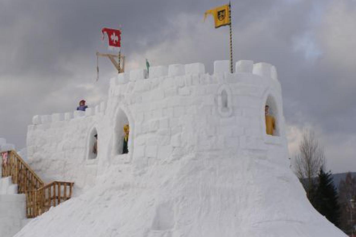 Sněhový hrad - Harrachov