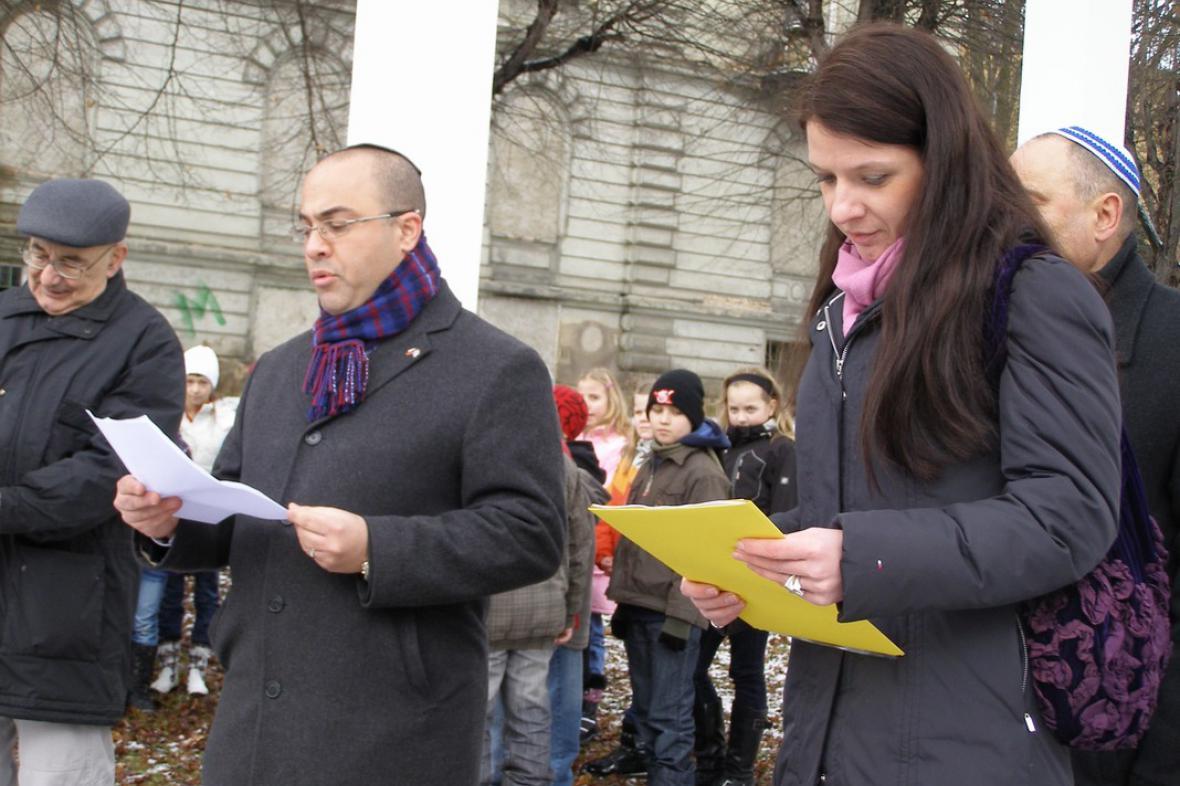 V Teplicích uctili památku obětí holocaustu