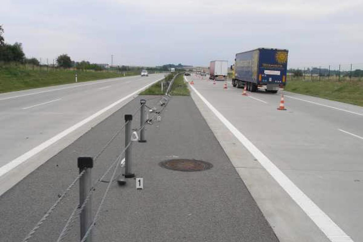 Dopravní nehoda na dálnici
