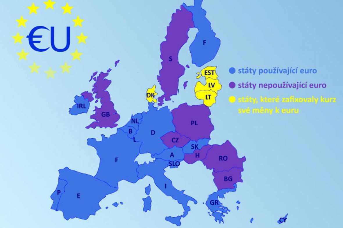 Mapa eurozóny