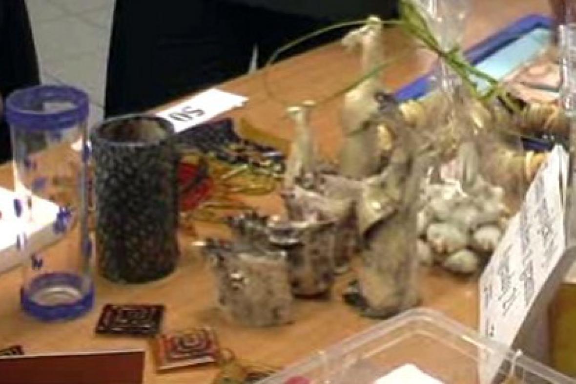 Výrobky na školním jarmarku