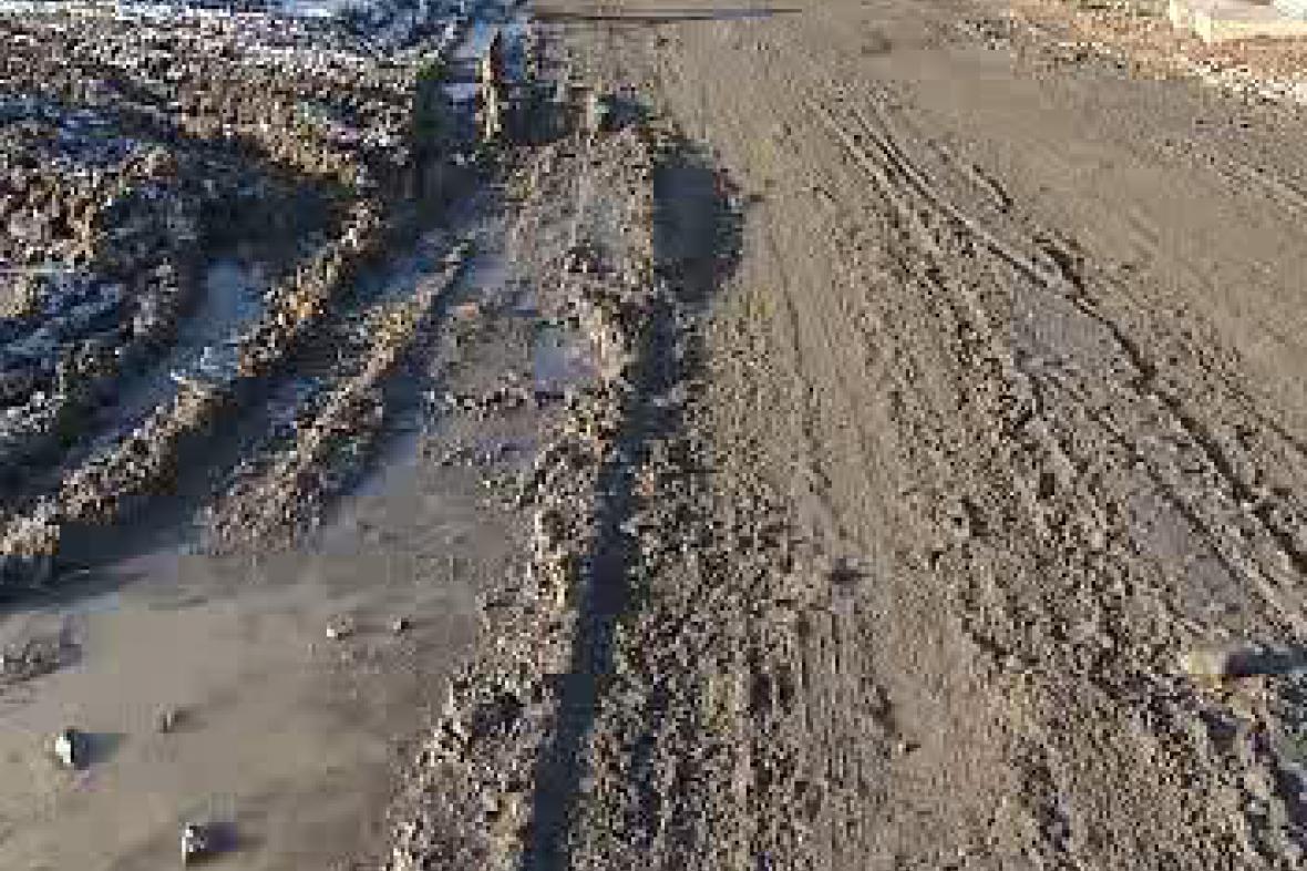 Zablácená silnice