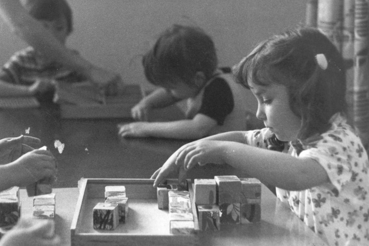 Dětské kostky - archivní snímek