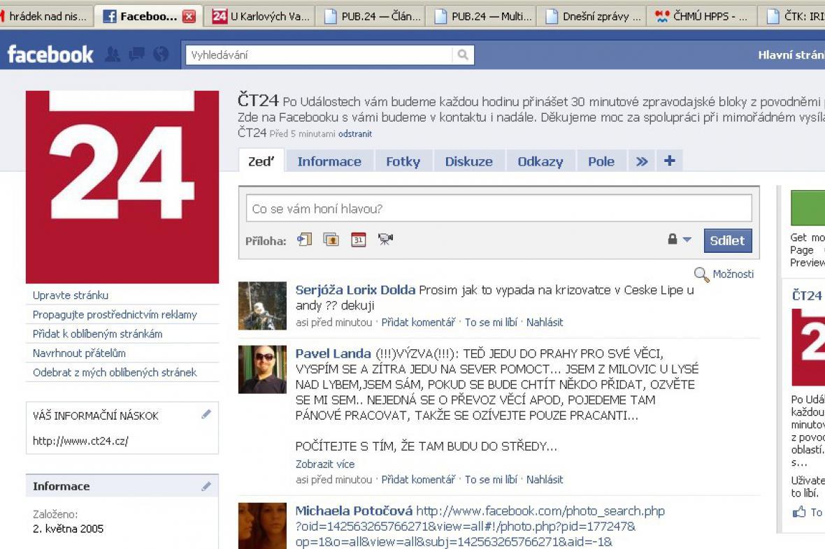 ČT24 na Facebooku