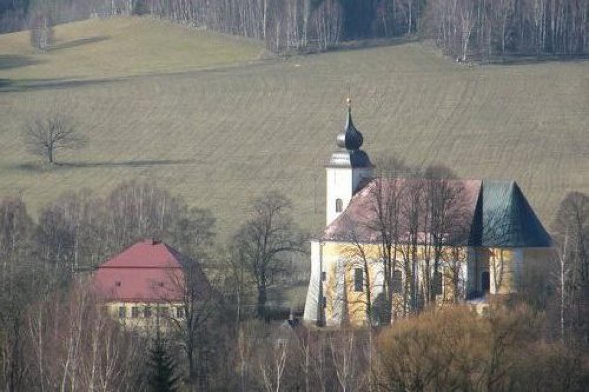 Lobendava - kostel Navštívení Panny Marie a fara