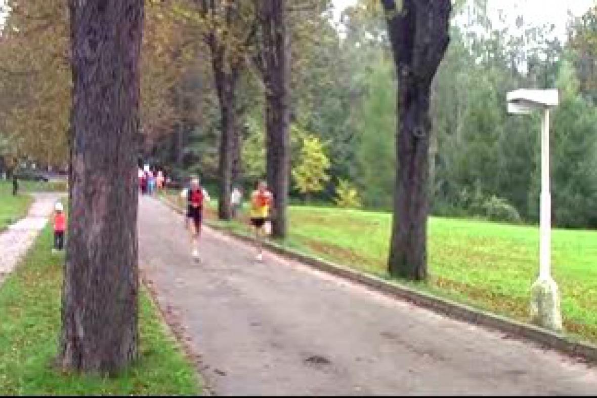 Běh lázeňským parkem