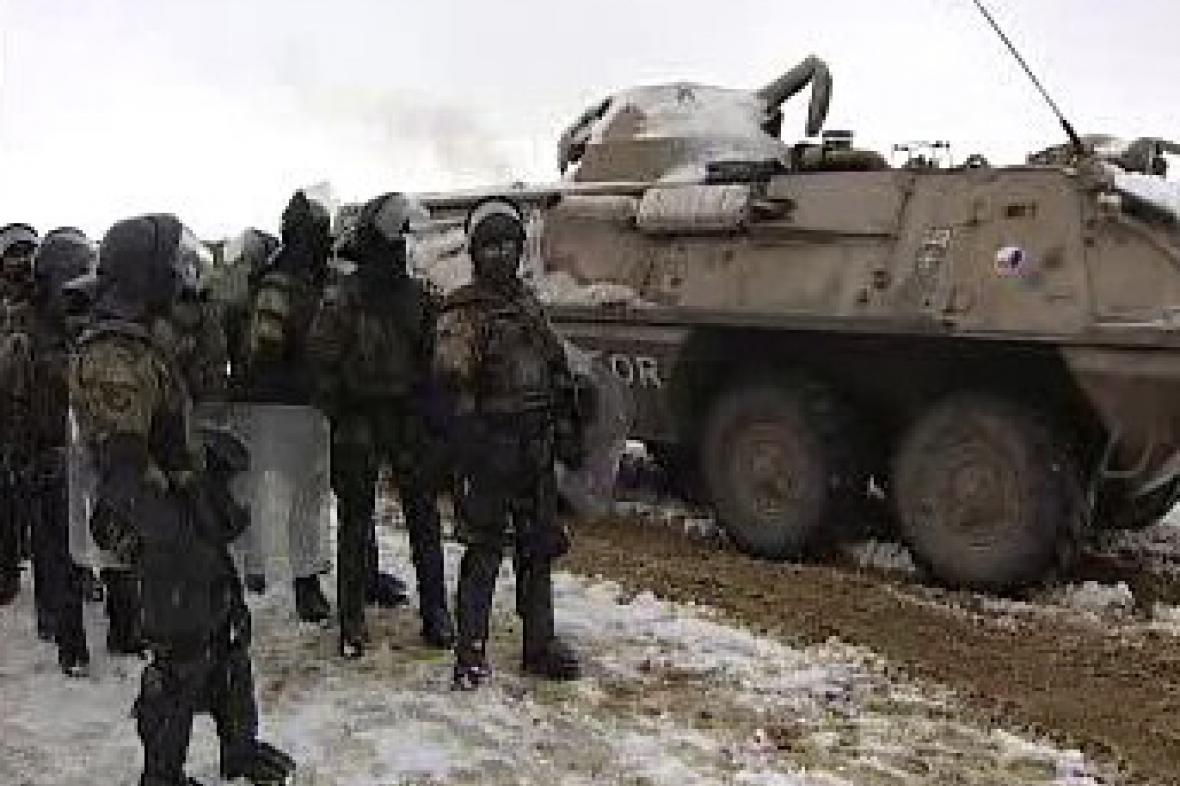 Čestí vojáci v Kosovu
