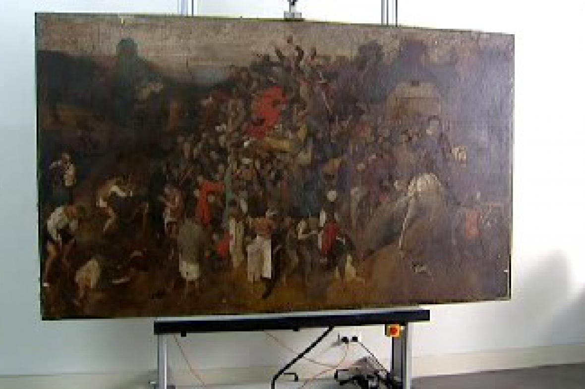 Obraz Pietera Bruegela - Víno na svátek sv. Martina