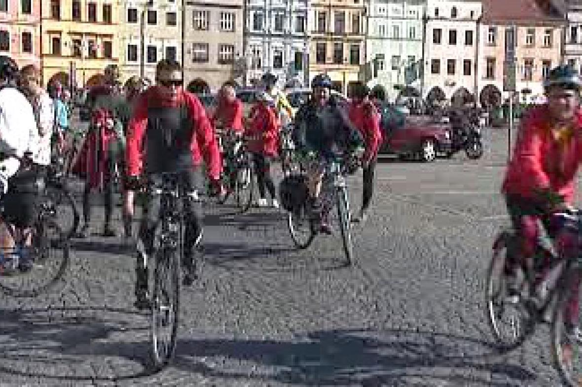 Cyklisté v Budějovicích