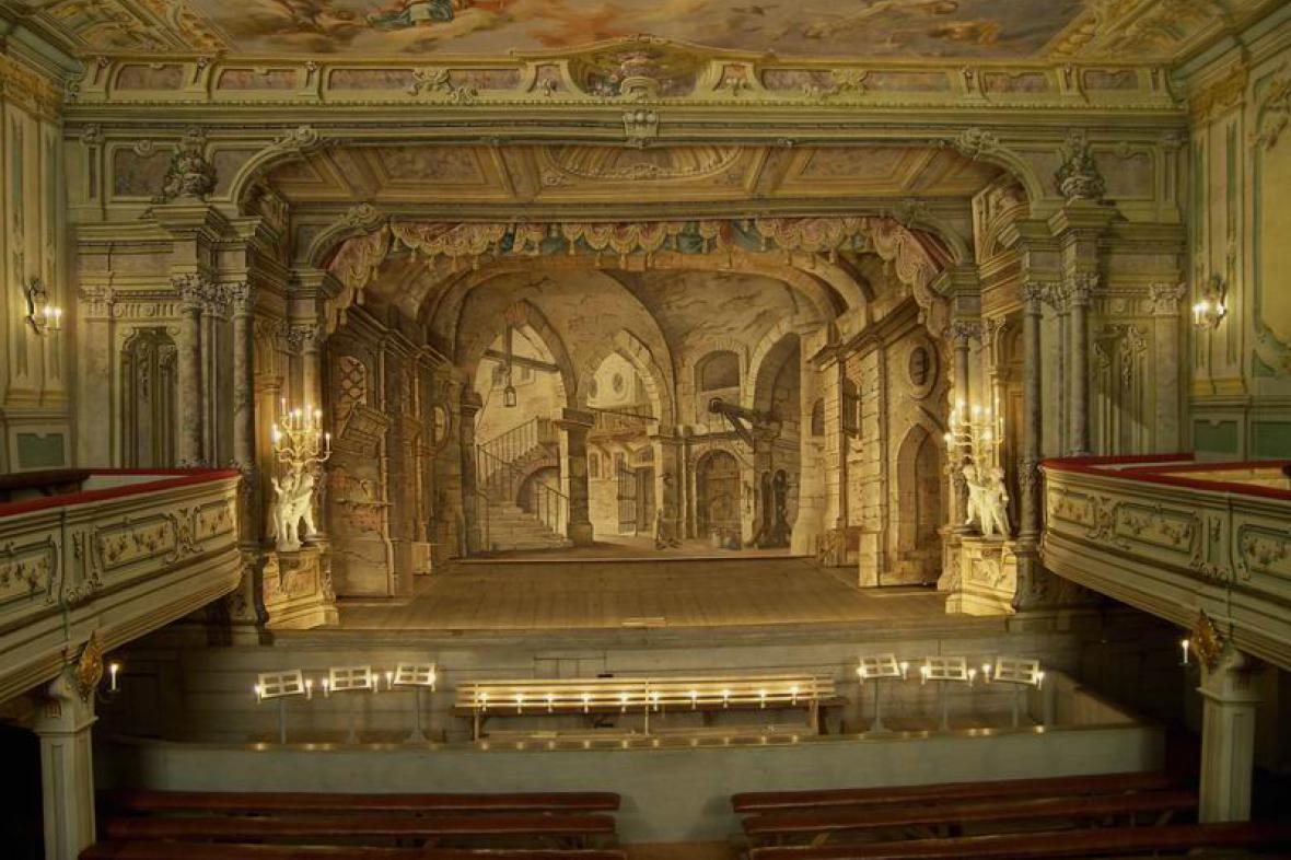 Barokní zámecké divadlo v Českém Krumlově