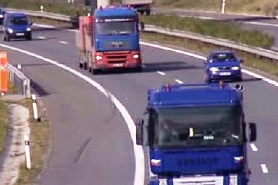 Kamiony v silničním provozu
