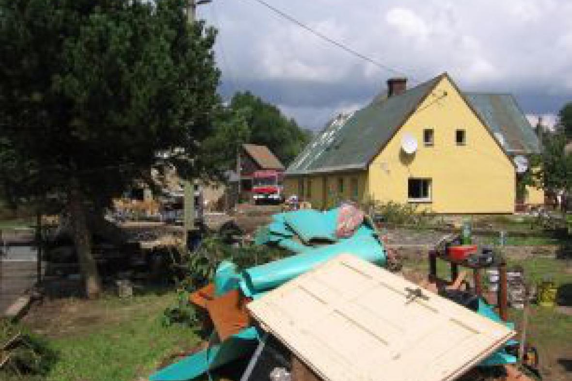 Pomoc postiženým povodněmi