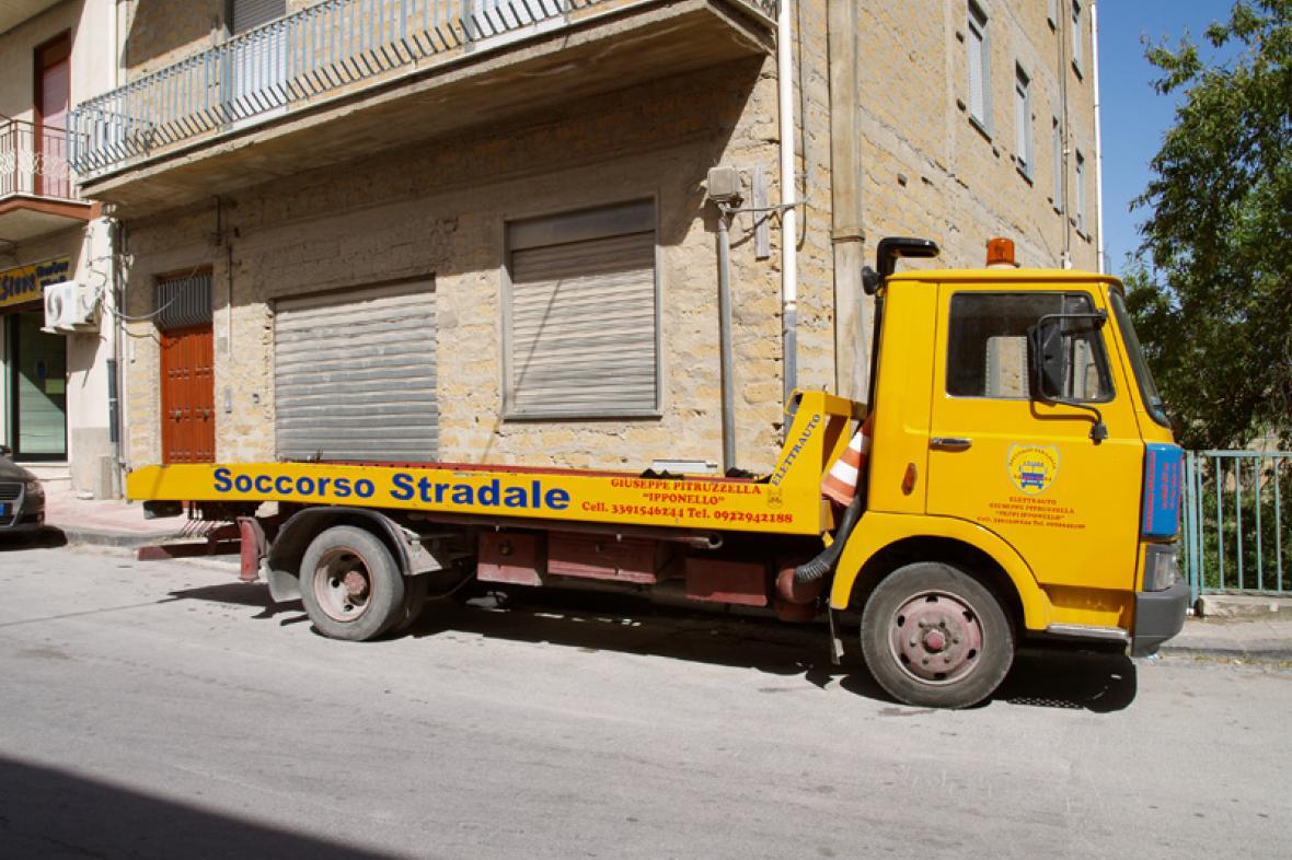 Sicilská silniční pomoc je vždy připravena