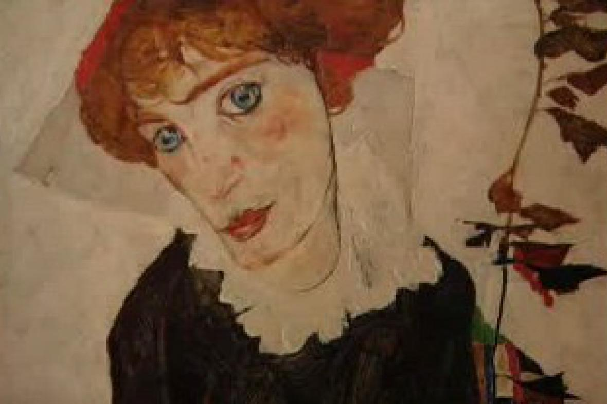 Egon Schiele / Portrét Wally - detail
