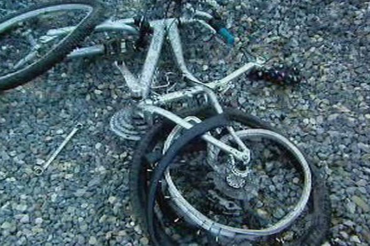 Kolo po nehodě