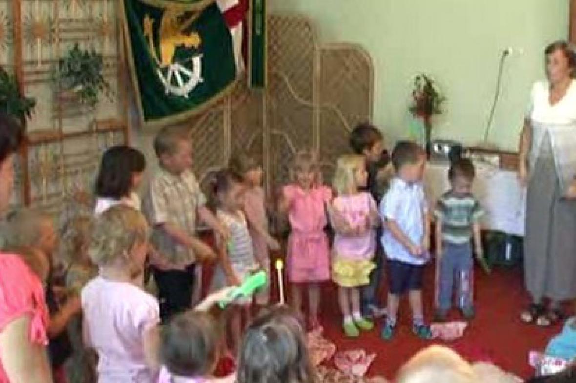 Děti z MŠ v Citově při vystoupení