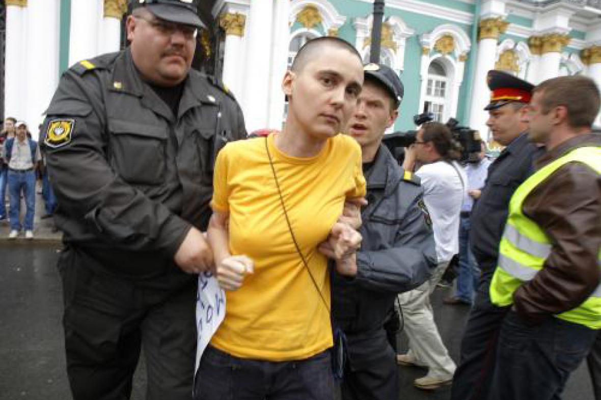 Protesty homosexuálů v Petrohradě