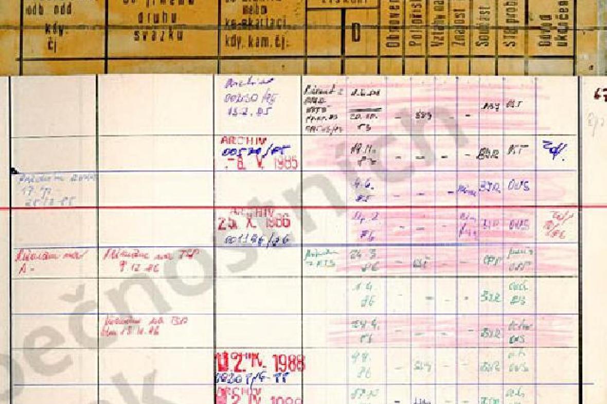 Záznam v archivu