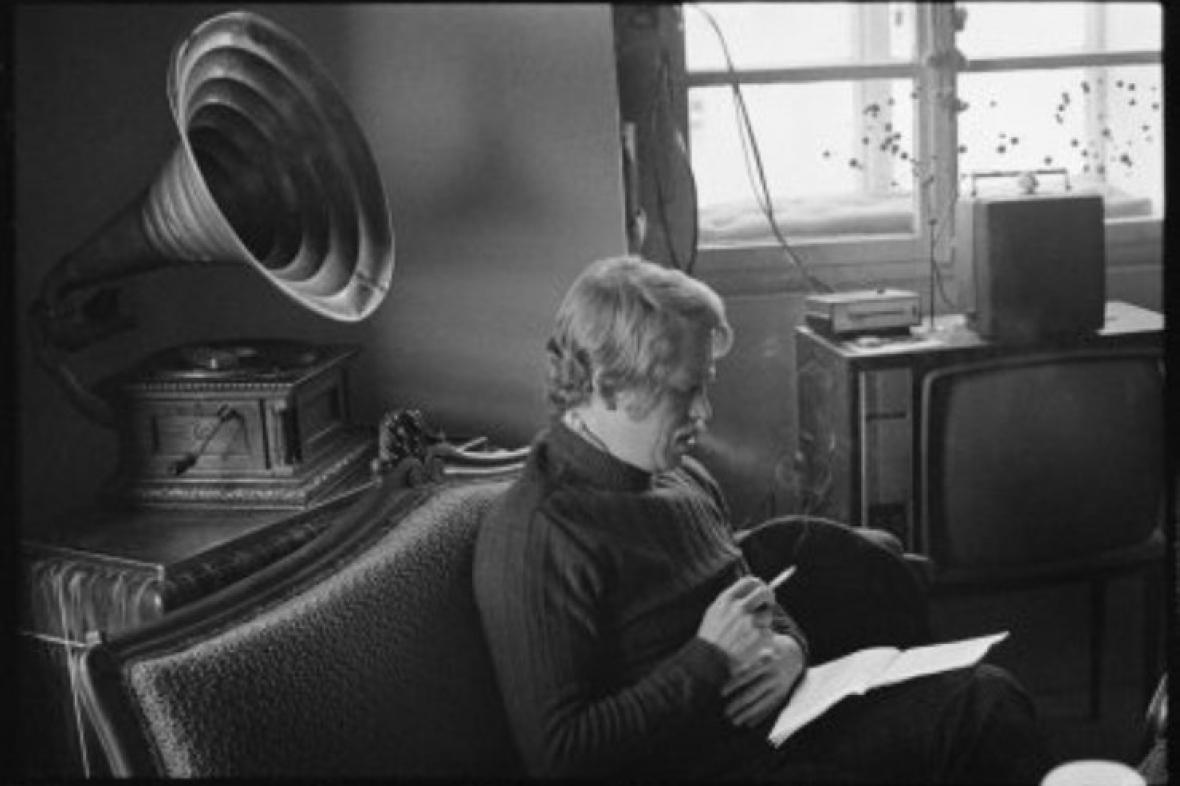 Václav Havel na fotografii Oldřicha Škáchy