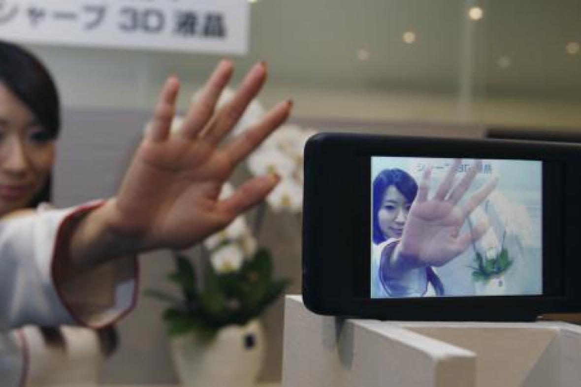 Prezentace 3D displeje od firmy Sharp