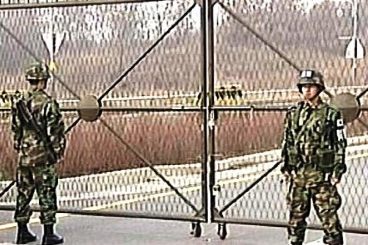Vojáci na korejské hranici