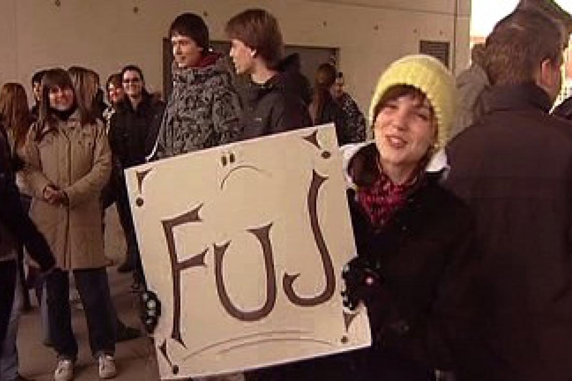 Protest studentů