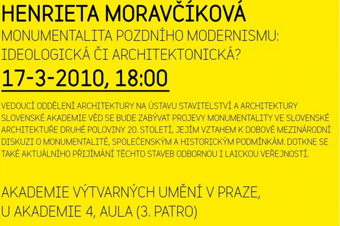 Středy na AVU: Henrieta Moravčíková