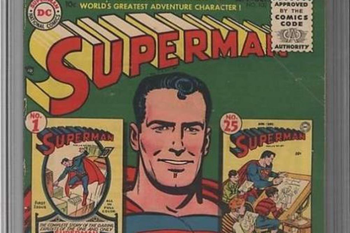Jeden z mnoha historických komiksů o Supermanovi