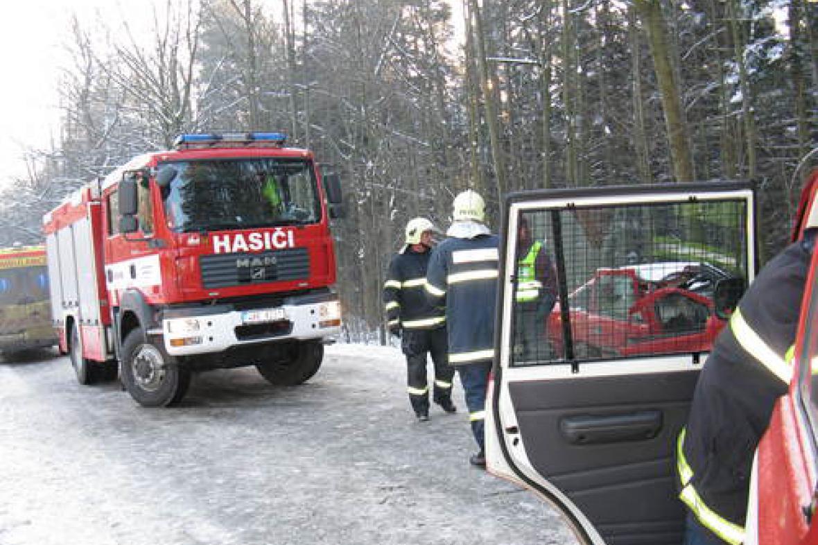 Záchranáři u vážné nehody