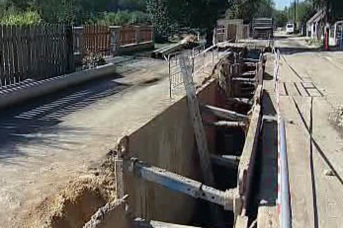 Výkop pro kanalizaci
